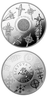 50 litas coin Cross crafting  | Lithuania 2008