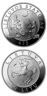 50 litas coin 475th Anniversary of the First Statute of Lithuania  | Lithuania 2004