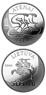 50 litas coin XXVIII Olympic Games in Athens  | Lithuania 2003