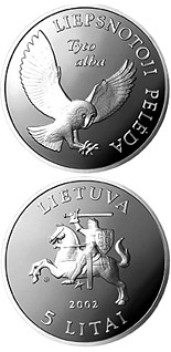 5 litas coin Barn Owl  | Lithuania 2002
