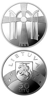 50 litas coin New Millennium  | Lithuania 2000
