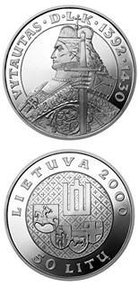 100 litas coin Vytautas, the Grand Duke of Lithuania | Lithuania 2000