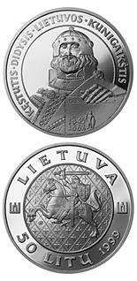 50 litas coin Kęstutis, the Grand Duke of Lithuania | Lithuania 1999
