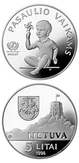 5 litas coin Children of the World  | Lithuania 1998