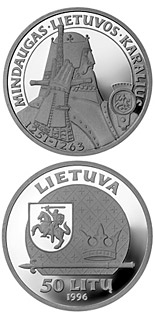 50 litas coin Mindaugas, the King of Lithuania | Lithuania 1996