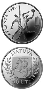 50 litas coin XXVI Olympic Games in Atlanta  | Lithuania 1996