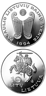 10 litas coin World Lithuanians Song Festival  | Lithuania 1994