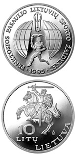 10 litas coin 5th World Lithuanians Sport Games  | Lithuania 1995