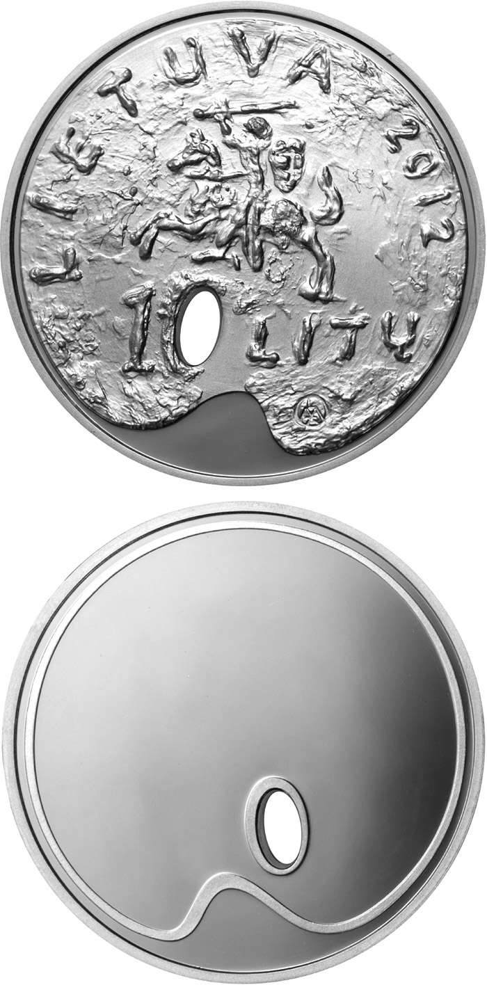 Image of 10 litas coin Fine art  | Lithuania 2012.  The Silver coin is of Proof quality.