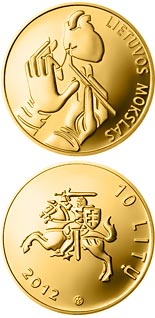10 euro coin Exact sciences  | Lithuania 2012