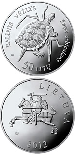 50 litas coin European Pond Turtle | Lithuania 2012