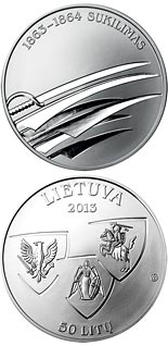 50 litas coin 150th Anniversary of January Uprising 1863-1864  | Lithuania 2013