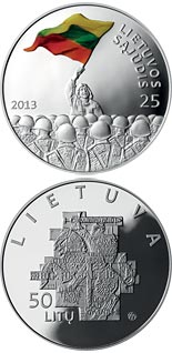 50 litas coin 25th anniversary of the establishment of the Lithuanian Sąjūdis | Lithuania 2013