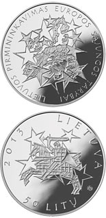 50 litas coin Lithuania's Presidency of the Council of the European Union  | Lithuania 2013