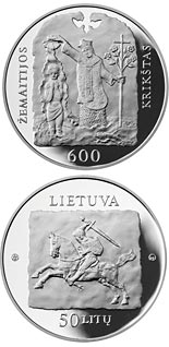 50 litas coin 600th anniversary of the christening of Samogitia | Lithuania 2013