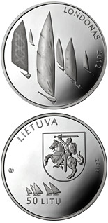 50 litas coin Games of the XXX Olympiad in London  | Lithuania 2011