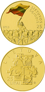25 litas coin 25th anniversary of the establishment of the Lithuanian Sąjūdis | Lithuania 2013