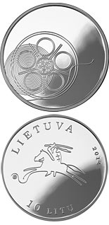10 litas coin The Cinema | Lithuania 2014