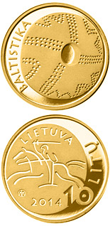 10 euro coin The Baltistika | Lithuania 2014