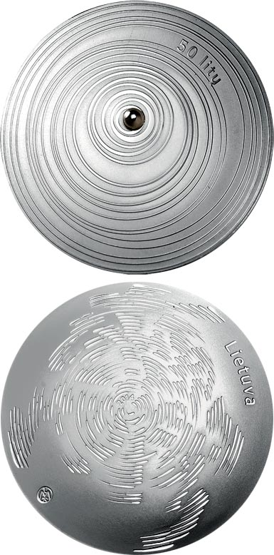 Image of 50 litas coin - Form | Lithuania 2014