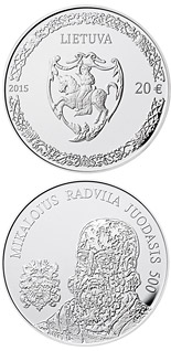 20 euro coin 500th anniversary of the birth of Mikalojus Radvila Juodasis | Lithuania 2015