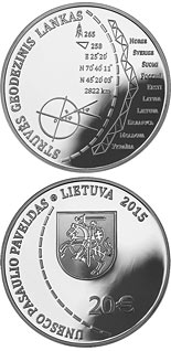 20 euro Struve Geodetic Arc (UNESCO World Heritage) - 2015 - Series: Silver 20 euro coins - Lithuania
