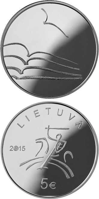 5 euro The Literature  - 2015 - Series: 5 euro coins - Lithuania