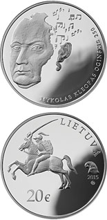 20 euro 250th anniversary of the birth of Mykolas Kleopas Oginskis - 2015 - Series: Silver 20 euro coins - Lithuania