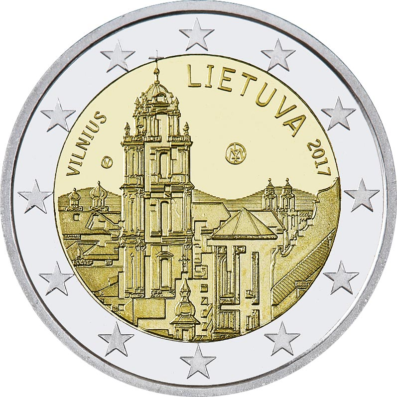 Image of 2 euro coin - Vilnius – capital of culture and art | Lithuania 2017