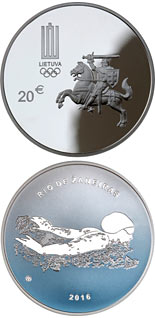 20 euro The 31st Olympic Games in Rio de Janeiro - 2016 - Series: Silver 20 euro coins - Lithuania