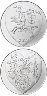 1.5 euro coin Kaziukas Fair | Lithuania 2017