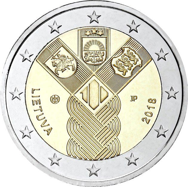 2 euro coin 100th anniversary of the Restoration of Lithuania's Independence | Lithuania 2018