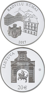 20 euro Radziwiłł Palace - 2017 - Series: Silver 20 euro coins - Lithuania