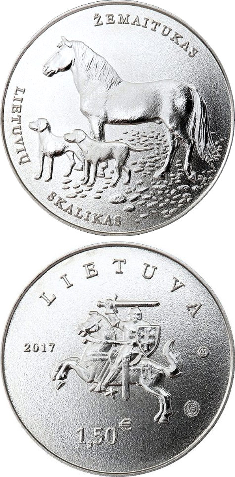 1.5 euro Lithuanian Hound and Žemaitukas - 2017 - Lithuania