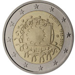 2 euro coin The 30th anniversary of the EU flag | Lithuania 2015