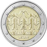 2 euro coin Lithuanian Song and Dance Celebration | Lithuania 2018