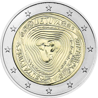 Image of 2 euro coin – Sutartinės, Lithuanian multipart songs | Lithuania 2019