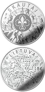 5 euro coin Scouts | Lithuania 2019