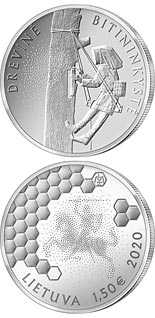 1.5 euro coin The Tree Beekeeping | Lithuania 2020