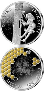 10 euro coin The Tree Beekeeping | Lithuania 2020