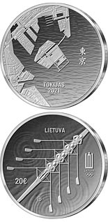 20 euro coin XXXII Olympic Games in Tokyo | Lithuania 2020