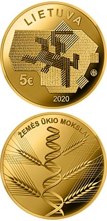5 euro coin Agricultural Sciences | Lithuania 2020