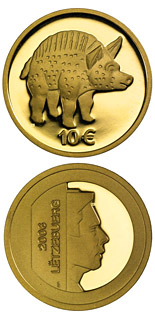 10 euro coin Boar from Titelberg  | Luxembourg 2006