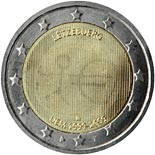 2 euro coin 10th Anniversary of the Introduction of the Euro | Luxembourg 2009