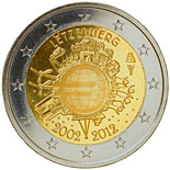 2 euro coin Ten years of Euro  | Luxembourg 2012