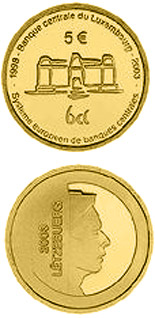 5 euro coin 5 years Central Bank of Luxembourg  | Luxembourg 2003