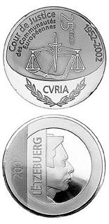 25 euro 50 years Court of Justice of the European Communities  - 2002 - Series: European institutions - Luxembourg