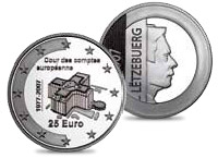 25 euro 30 years European Court of Auditors  - 2007 - Series: European institutions - Luxembourg