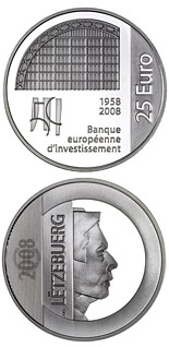 25 euro coin 50 years European Investment Bank  | Luxembourg 2008