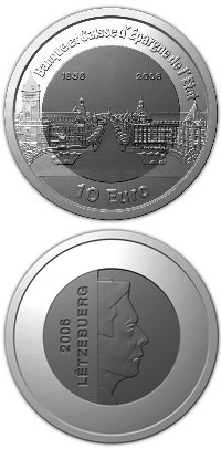 10 euro 150 years Banque et Caisse d'Epargne de l'Etat  - 2006 - Series: National institutions - Luxembourg